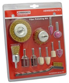 12 Piece Multi Accessory Kit / Abtec4Abrasives